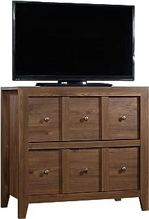 "Sauder 420571 Dakota Pass Console with File, For TVs up to 42"", Rum Walnut finish"