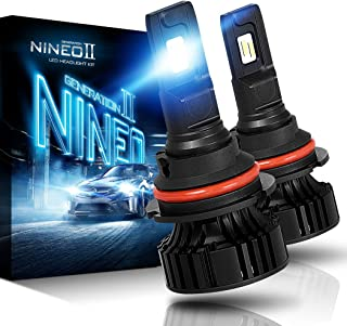 NINEO 9007 LED Headlight Bulbs | CREE Chips 12000Lm 6500K Extremely Bright All-in-One Conversion Kit | 360 Degree Adjustable Beam Angle