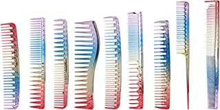 Detangling Professional Comb Styling Comb Colorful Plastic for Hair Dyeing Parting Combing Post‑styling