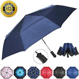 Inverted Folding Umbrella Travel Umbrella Windproof Compact Umbrella Inside Out Umbrella Reversible Reverse Umbrella Automatic Open and Close Windproof Umbrella for Woman & Man UV Sun & Rain