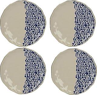 Set da 6/Pezzi CREATIVE TOPS Drift Leaves Extra Piatto per Snack 23/x 23/x 2/cm Blu//Verde 22,9/cm in melammina 23/cm