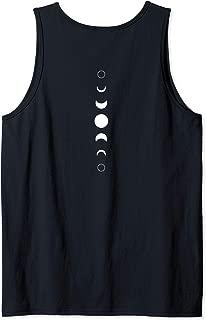 Celestial Moon Phase Back Print Vertical Lunar Astronomy Tank Top