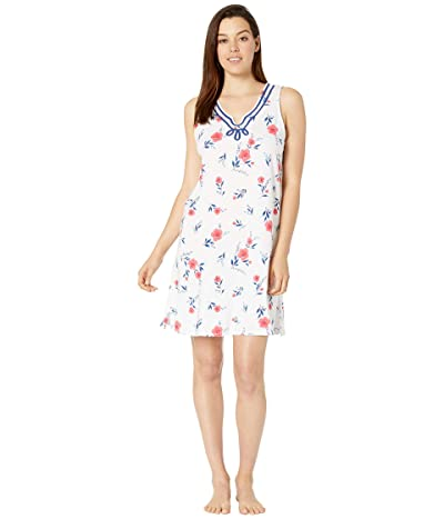 Carole Hochman Sleeveless Short Gown (Red Floral) Women