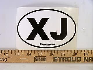 X J Euro Oval Jeep Cherokee Bumper Sticker