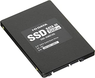 I-O DATA 内蔵2.5インチSSD 512GB Serial ATA III対応 ストレージ換装に 9.5mm変換スペーサー付属 SSD-3SB512G