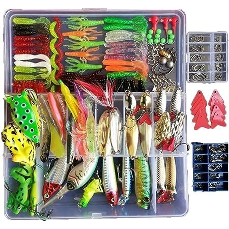 177Pc//Set Carp Fishing Lure Tackle Box Kit Set Hooks Swivels Sinkers Accessories