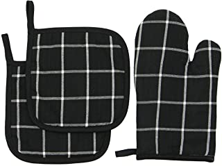 Mia'sDream 100% Cotton Oven Mitt & Pot Holders, Kitchen Quilted Oven Gloves,Hot Pan Mat Pads Set for Cooking Grilling Barb...