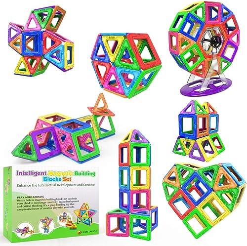 Blocs de Construction Magnétiques – Cadeaux de Luxe pour Les Enfants – Blocs de constructions aimantés - Jeux pour ga...