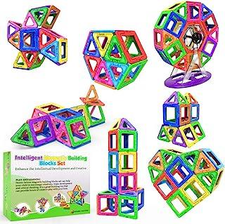 Desire Deluxe Bloques de Construcción Magnéticos Infantiles - Juego Creativo Educativo de 94 Piezas de Formas Geométricas ...