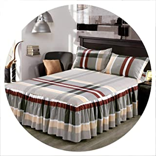 retro store Classic Single Layer Skirt Bedding Sets Non-Slip Sheet Cover Bed Sheet Room Decoration Flower Printing Bedspread Pillowcase 3pcs,6,120x200CM