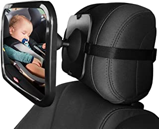 Universal Car Rear Seat View Mirror- Aolvo Baby Back Seat Mirror- Wide Convex Shatter-proof Acrylic Infant Backseat Mirror...