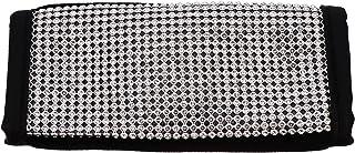 VICASKY Capa para freio de mão com cristal de diamante, capa de couro de poliuretano para peças de carroceria automotivas