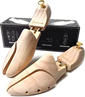 シューキーパー シューツリー 高級天然木松製 メンズ シワ伸ばし・型崩れ防止・調湿 木の香り 化粧箱付き 25.5~27cm,27~28.5cm (25.5-27cm) sokaiwheel