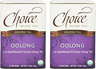 Choice Organic Teas Oolong Tea (Pack of 2) Gentle and Delightful Aroma, 16 Count Each