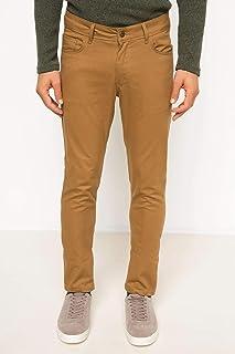 DeFacto Paco Slim Fit 5 Cep Pantolon Kahverengi W38 x L30