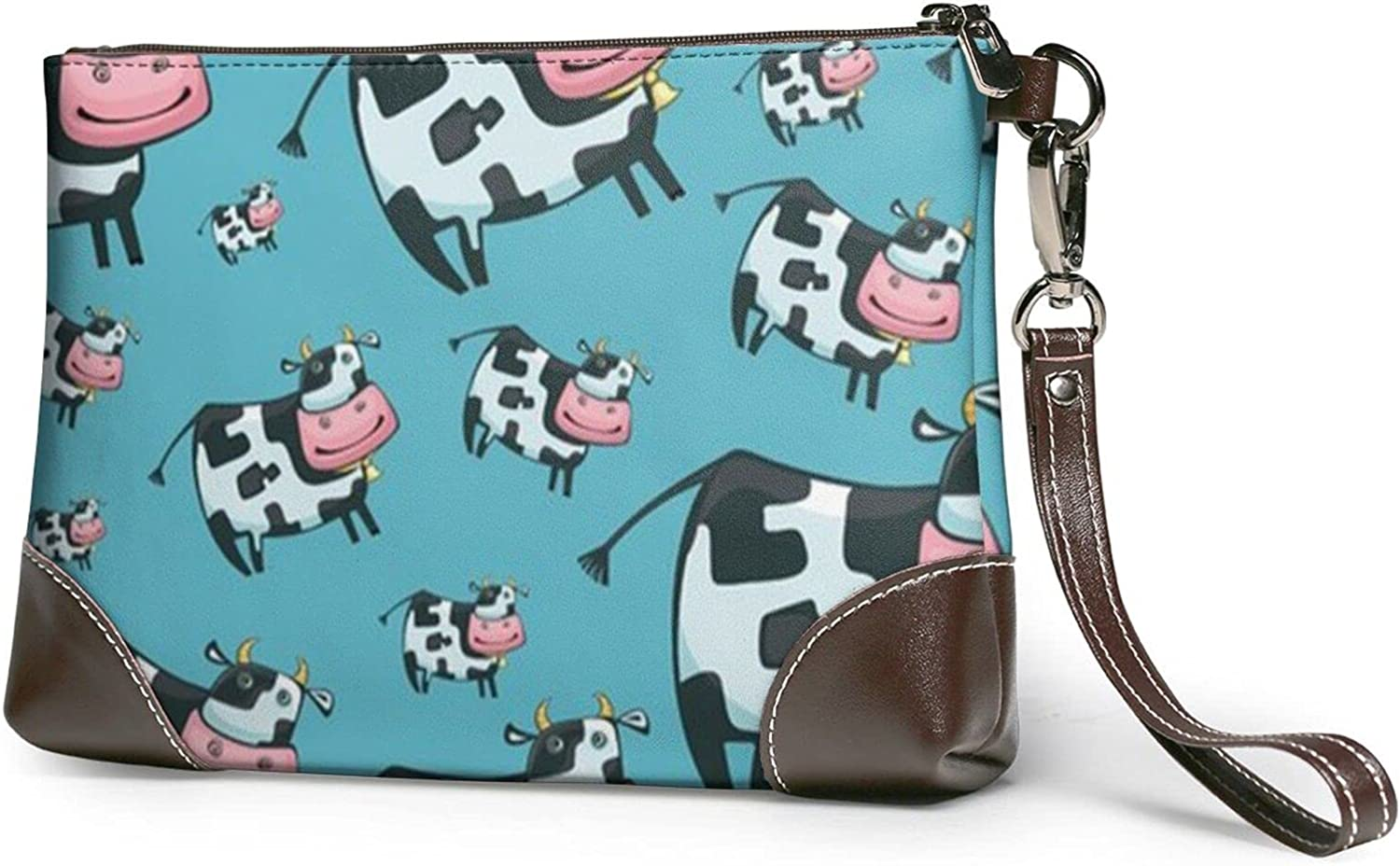 Wallet Cute Otters Printed Ladies Wristband Handbag Leather Clutch 8 X 5.5 X 1.5 Inches