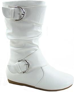 کفش چرم زنانه بچه گانه زنانه Klein-80K Cute's Faux Leather Two Zupper Zipper Flat Heel