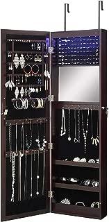 wall mounted locking jewelry armoire