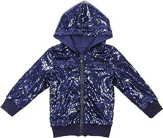 Cilucu Kids Jackets Girls Boys Sequin Zipper Coat Jacket for Toddler Birthday Christmas Clothes