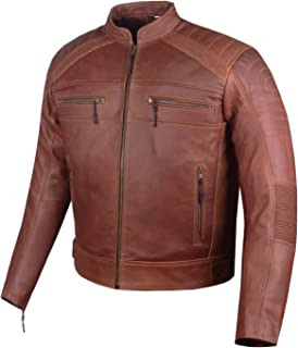 cafe racer leather jacket armor