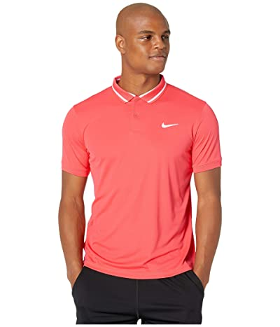 Nike NikeCourt Dry Polo Pique (Ember Glow/White/White) Men