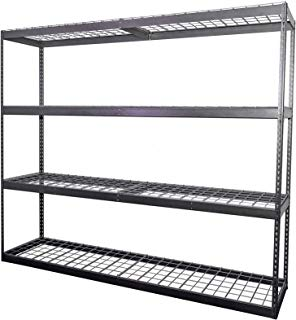 "MonsterRax 24""x92""x84""Garage Shelving - Hammertone Bolted Shelving Rack - 500 Pounds Per Shelf High Grade Steel (24""x92""x84"")"
