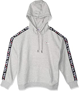 FILA Women's Clara Hoodie Sweatshirt, (Light Melange Bros), Small