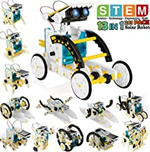 POKONBOY 13-in-1 Robot Kit Solar Robot Creation Toy,Educational Science Experiment Kit..