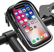Fietshouder Waterdichte, LEMEGO Telefoonhouder Fiets Stuur Motorfiets Scooter Fietstas 360 Graden Rotatie Anti Vibratie To...