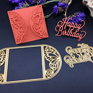 Cutting Dies Creative Metal Template Die Stencil ulti-Style Cut Dies for DIY Scrapbook Album Paper Card(Happy Birthday)
