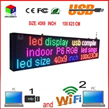 CX-P6 full-color indoor led sign and usb programmable rolling information LED display