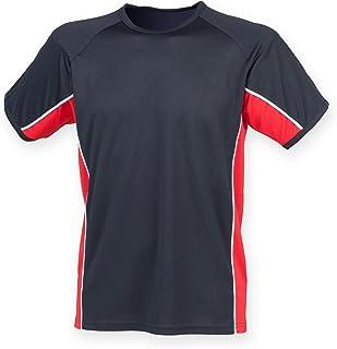 Finden & Hales Mens Short Sleeve Performance Panel Sports T-Shirt