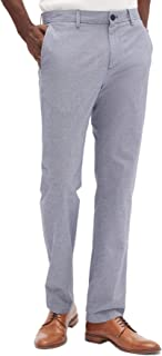 Mens Aiden Slim Fit Casual Chino Pants Light Blue Textured
