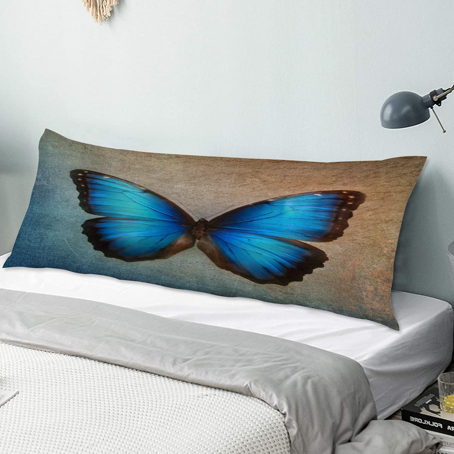 KENADVI Body Pillow Cover Pillowcase It excellence is very popular Blu Background Vintage with