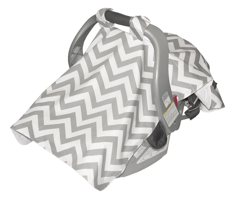Jolly Jumper Infant Car Seat Veil, Chevron Grey, One Size