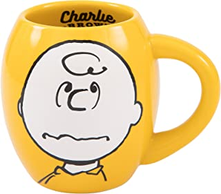 Vandor Peanuts Charlie Brown 18-Ounce Oval Ceramic Mug (85461)