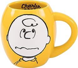 Vandor Peanuts Charlie Brown 18-Ounce Oval Ceramic Mug (85461)