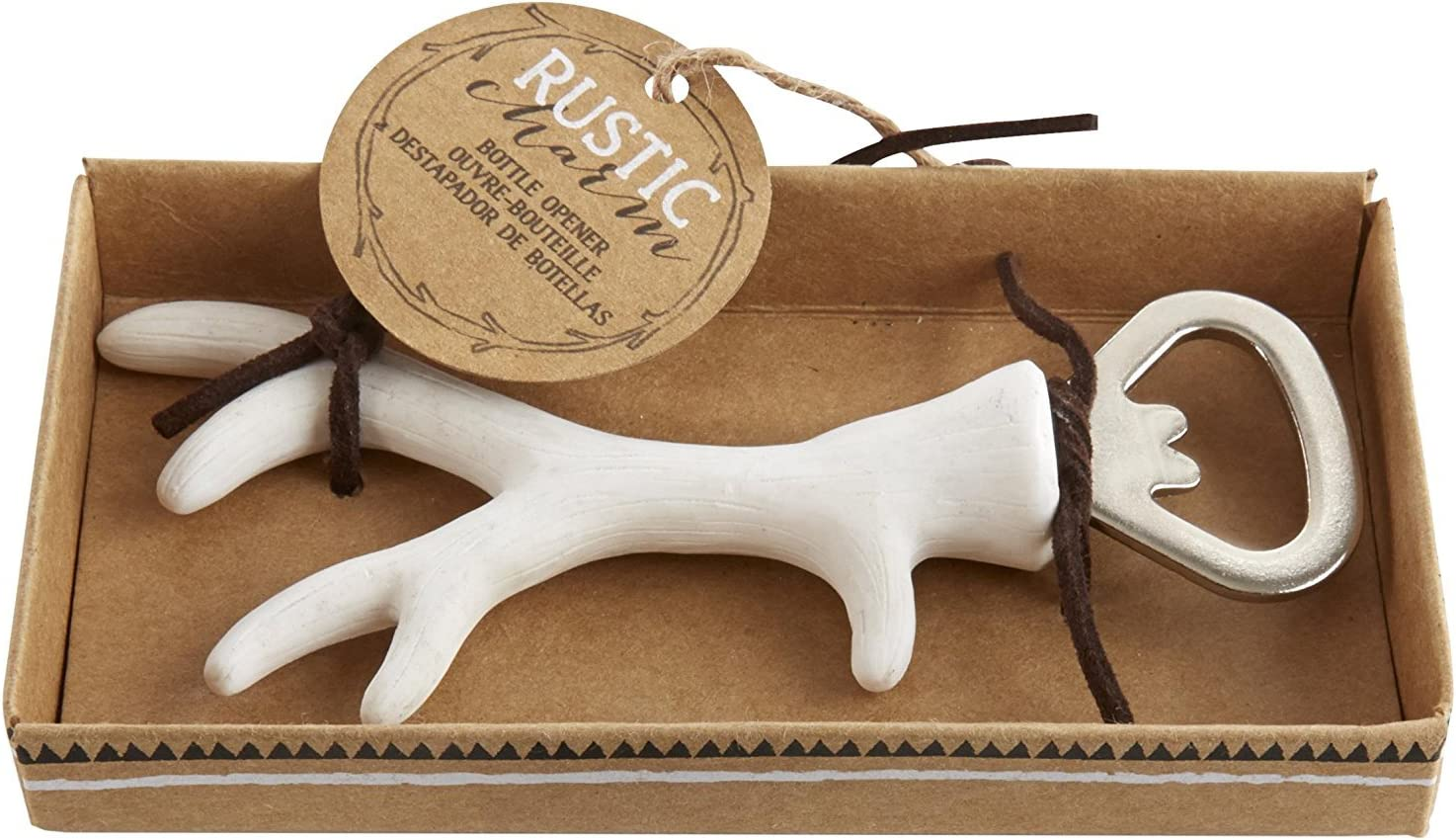 FavorOnline Rustic Charm Antler Surprise price Bottle Special price for a limited time 24 Opener