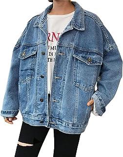 2018 NEW  WOMENS Ladies Denim Jacket Mid Blue Long Line Jeans Coat Size 8 10 12