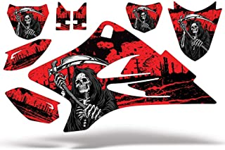 Wholesale Decals MX Graphics kit Sticker Decal Compatible with Yamaha TTR50 2006-2018 & TTR90 2000-2007 - Reaper Red