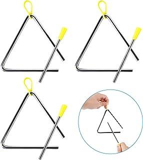 3Pcs de Instrumento de Triángulo Musical, Instrumento de Percusión Infantil Triangulo Musical, Triangulo Percusion Instrum...