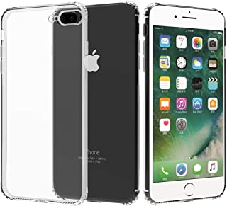 Migeec Compatible with iPhone 7 Plus Case/iPhone 8 Plus Case - Clear Soft TPU Bumper [Shock-Absorbing] Full Protection Pho...
