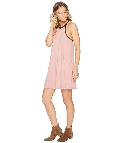 cuello color Ellie en Vestido con burdeos rosa rosa alto American de 866qwEY