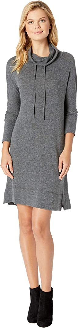 So Soft Sweater Knit  Dolman Sleeve Cowl Neck Sweater Dress