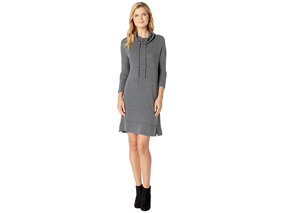 Mod-o-doc So Soft Sweater Knit Dolman Sleeve Cowl Neck Sweater Dress (Grey) Women