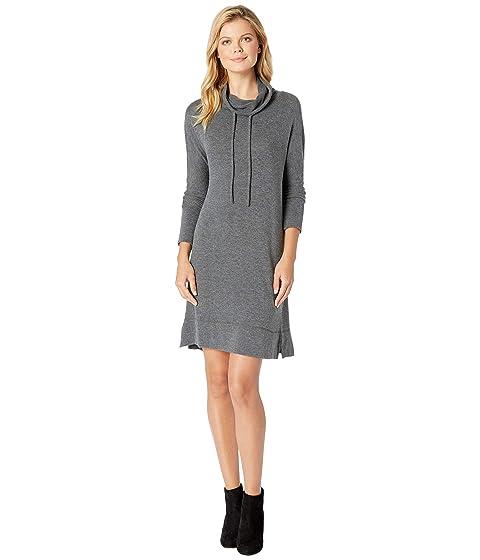 So Soft Sweater Knit  Dolman Sleeve Cowl Neck Sweater Dress