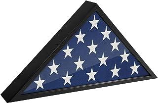 Americanflat Flag Case Frame, Fits 5x9.5, Black
