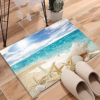 KAROLA 18 x 30 Inch Decorative Floor Mat Indoor/Front Door/Bathroom Non Slip Rug Beautiful Beach Seascape