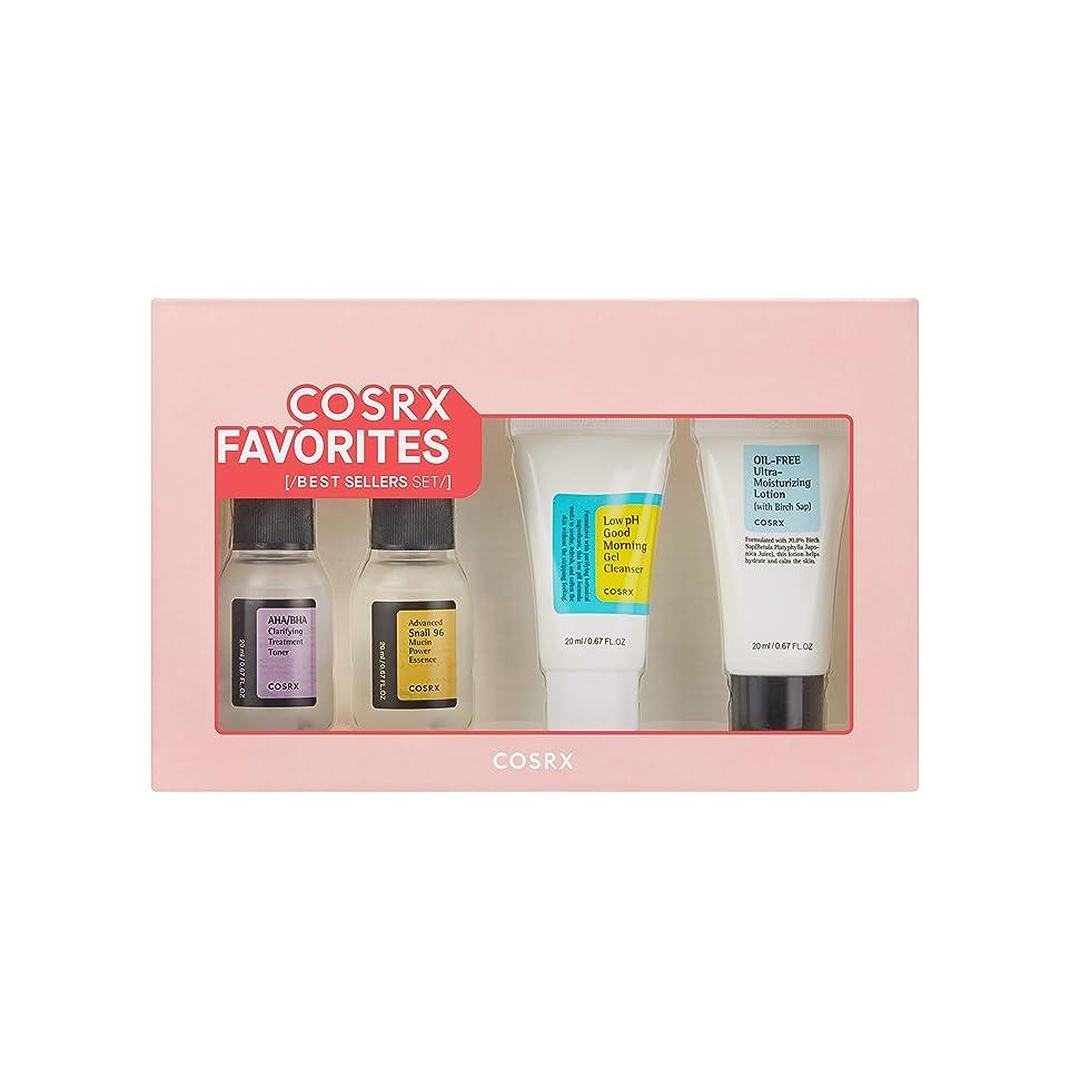 だらしないペルソナサーキュレーションCOSRX Favorites Best Sellers Set - Mini Sized Low pH Good Morning Gel Cleanser, AHA/BHA Clarifying Treatment Toner, Advanced Snail 96 Mucin Power Essence, Oil-Free Ultra Moisturizing Lotion (並行輸入品)