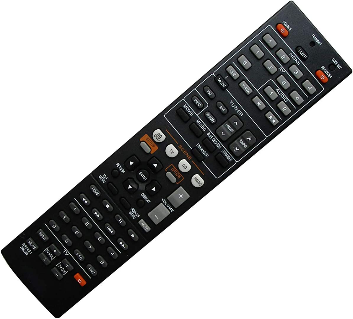 Remote Control for Yamaha Columbus Mall 4 years warranty RAV463 RAV491 ZA113500 ZF303200 RX-V37